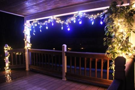 Our pool deck is ready for Christmas!